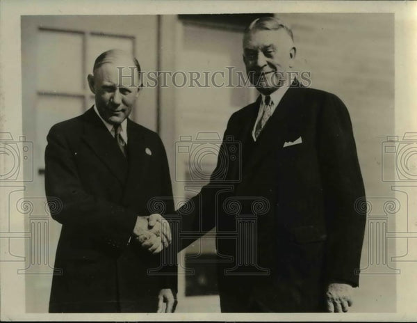 1931 Press Photo Mr. Harry J. Haas and Rome G.S. Tephenson, Bankers Association - Historic Images