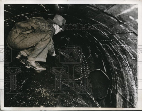 1937 Press Photo of general view of where a water supply to plant was sabotaged - Historic Images