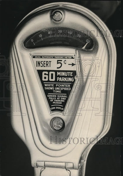 Press Photo Parking Meter - Historic Images