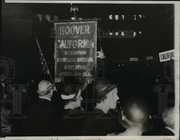 1932 Press Photo Governor Rolph led the California delegates at the Convention - Historic Images