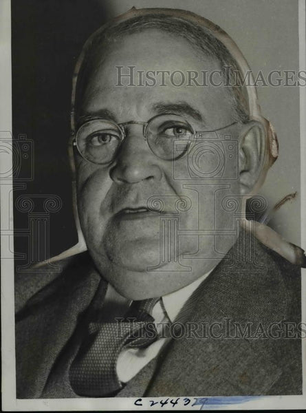 1933 Press Photo William Walker, acting president of Chicago Cubs - Historic Images