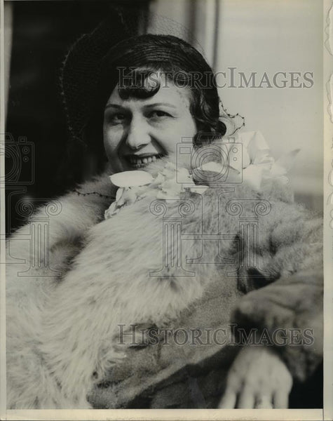1932 Press Photo Florence Rosenthal feminine globe trotter on Santa Cecilia - Historic Images