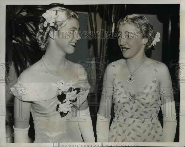 1938 Press Photo Miss Eleanor Roosevelt annual Black and White Ball, Washington - Historic Images