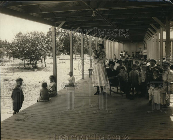1921 Press Photo Fresh Air camp at Sea Breeze - Historic Images