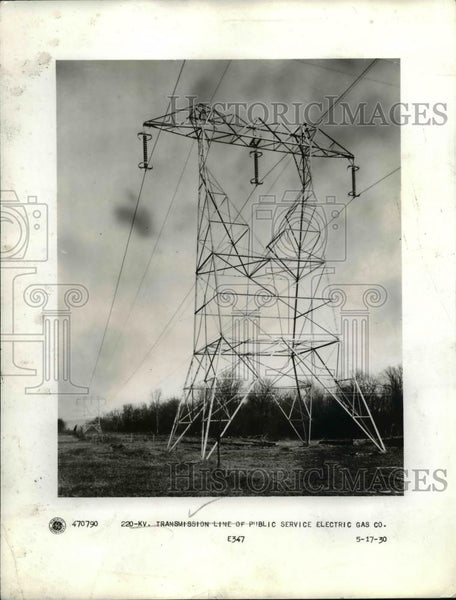 1934 Press Photo Transmission Tower for Electric Current - Historic Images