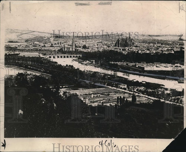 1918 Press Photo View of Metz city, the target of American troops - Historic Images