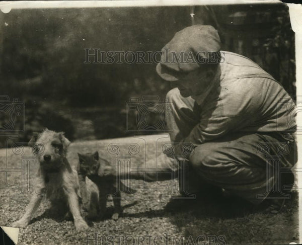 1925 Press Photo Marico Dawes Dog and Kitten-Hell Maria and Kitty Meow - Historic Images
