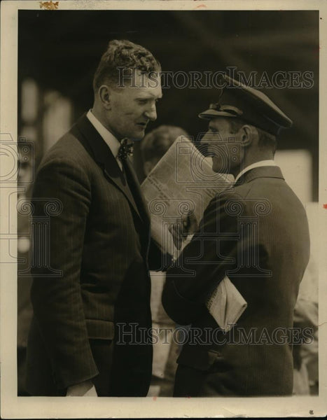 1928 Press Photo Dr Hans Borchers German Consul and Baron Von Hunefeld - Historic Images