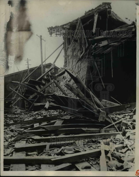 1924 Press Photo Palace Gate Wadakura earthquake Toyko Japan - Historic Images