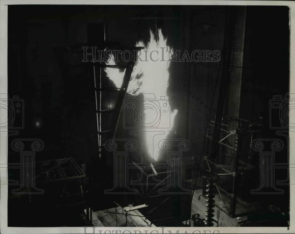 1934 Press Photo Pasadena Calif. California Institute of Technology open house. - Historic Images