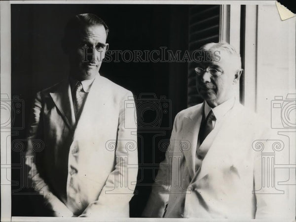 1933 Press Photo Lopez Ferrer Spain Amb to Cuba & Grau San Martin Cuba - Historic Images
