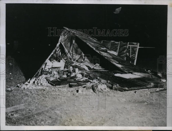 1935 Press Photo Fort Peck Dam Town in Montana Hit by Tornado & Floods 1 Dead - Historic Images