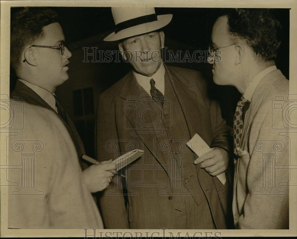 1939 Press Photo C.V. Mo Laughlin Assist. sec of Labor Conference Geneva S.S. - Historic Images