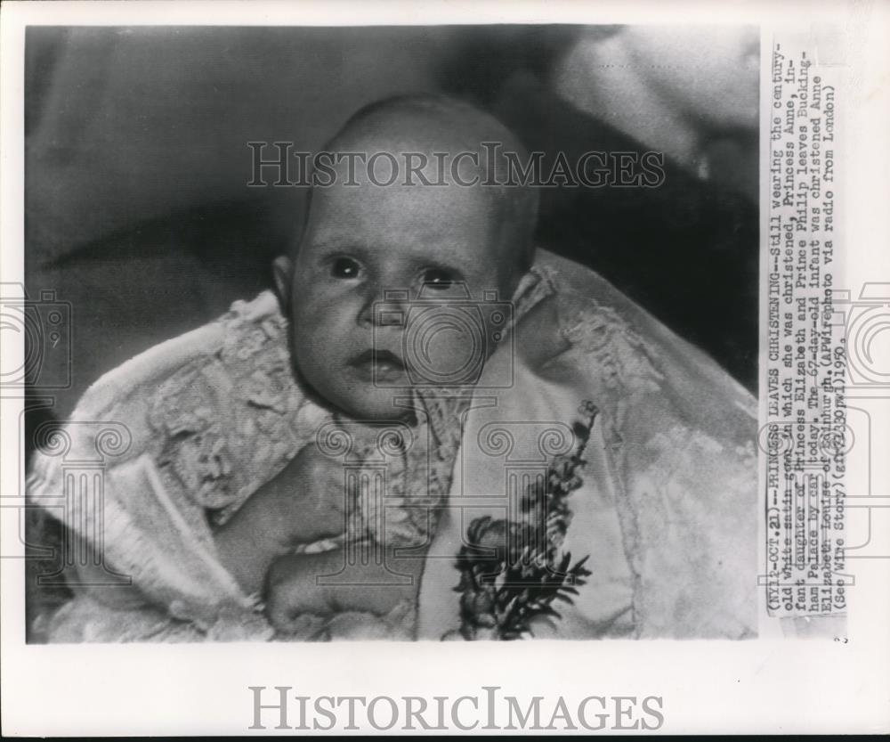 1950 press photo infant princes anne elizabeth louise of edinburgh