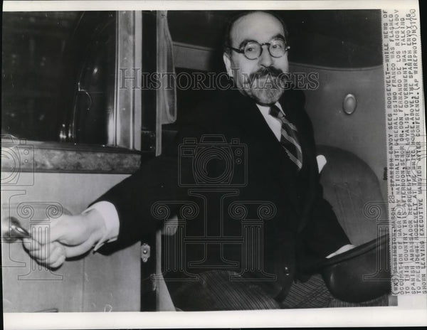 1939 Press Photo Dr. Don Fernando De Los Rios, Spanish Ambassador - Historic Images