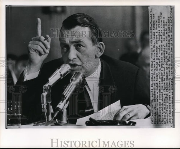 1952 Wire Photo Donald M Douglas Jr, president of the Douglas Aircraft Co - Historic Images