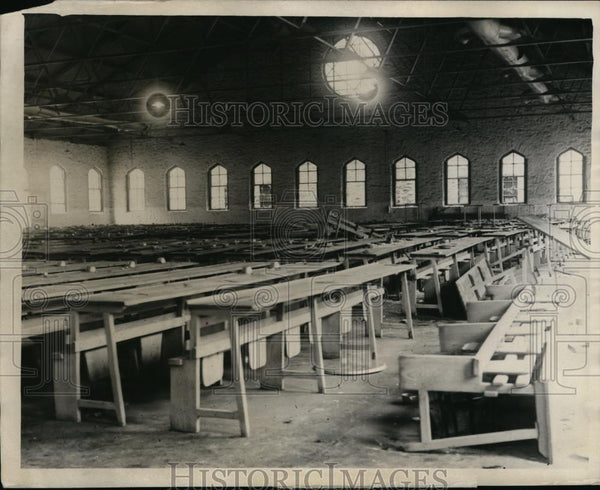 1931 Press Photo Dining Room Illinois State Prison Riot - Historic Images