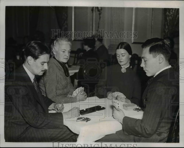 1937 Press Photo Canada National Bridge Tourney @ Washington DC - Historic Images