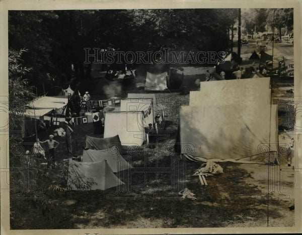 1940 Press Photo Tents At The Cleve Yacht Club Grounds - Historic Images