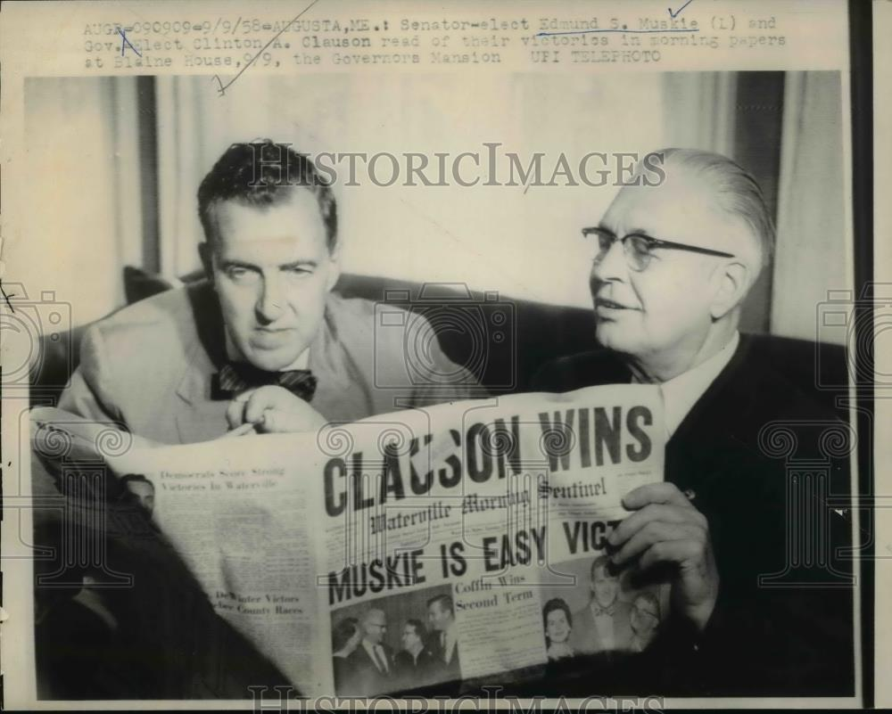 Muskie Clinton A Clauson At Gov