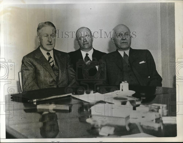 1933 Press Photo Hard-Coal Operators and Mine Union Leaders conference. - Historic Images