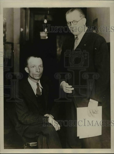 1930 Press Photo Augustus Gingeli & Captain Ray Cato Chief of LA Police Homicide - Historic Images