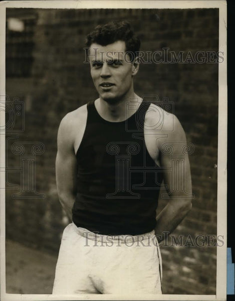 1930 Press Photo Falwell Scull Captain of University of Pennsylvania track - Historic Images