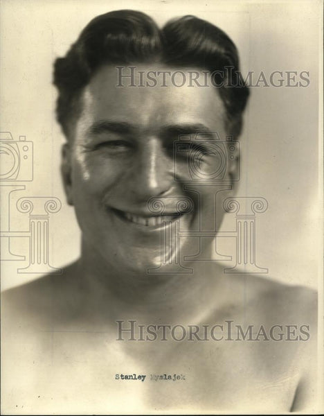 1944 Press Photo Stan Myslajek, Wrestler - Historic Images