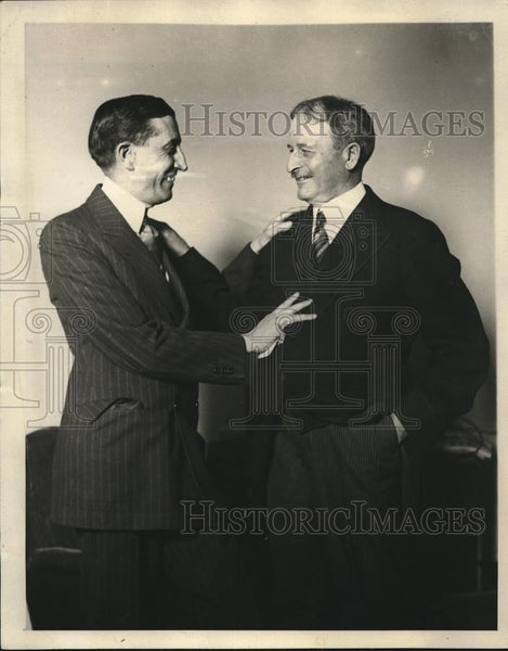 1924 Press Photo Frank Meneell with Will Hays together - Historic Images