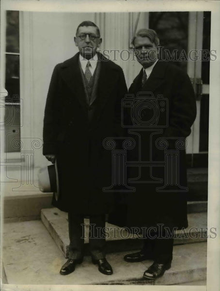 1927 Press Photo Louis Honig and James O'Shaughnessy of American Advertising - Historic Images