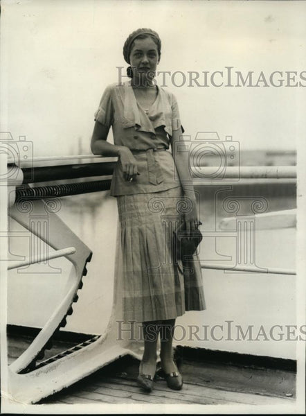 1931 Press Photo Sara Hollopeer Pretties in American Colony at Barranquilla - Historic Images