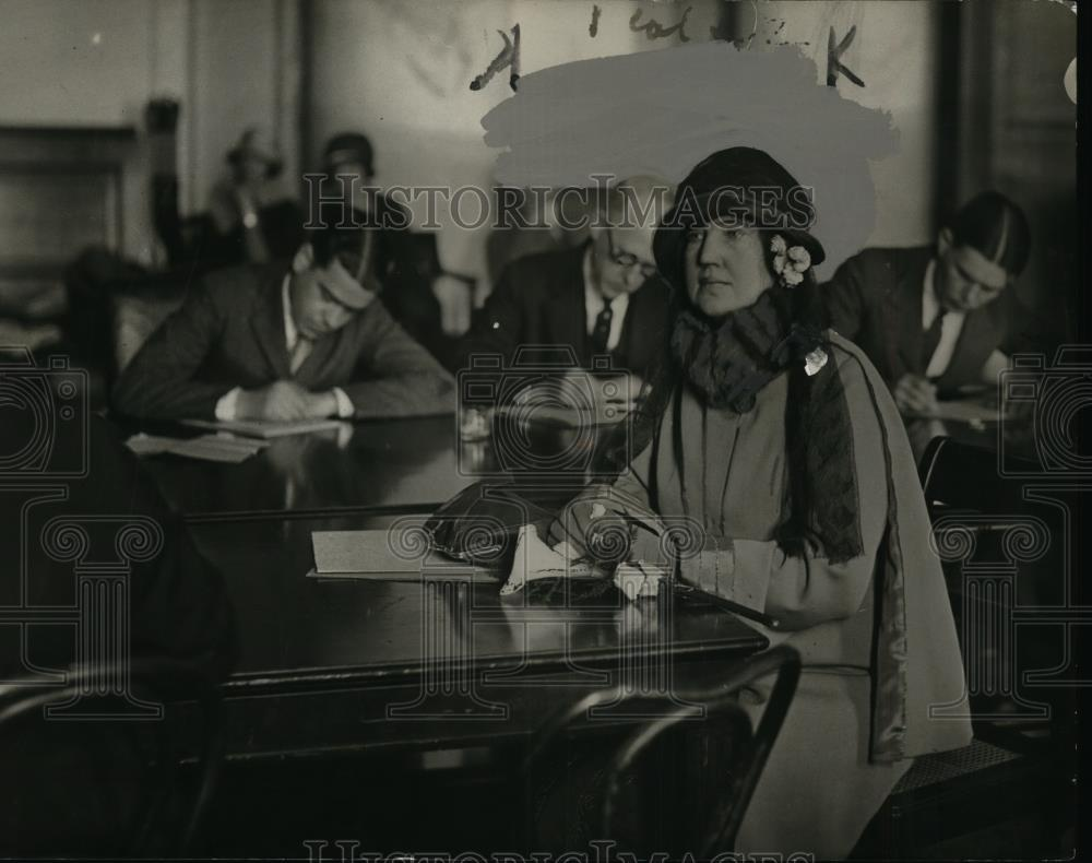 1924 Press Photo Mrs Jake Hammond at Oil hearing in Washington DC - nee88155 - Historic Images