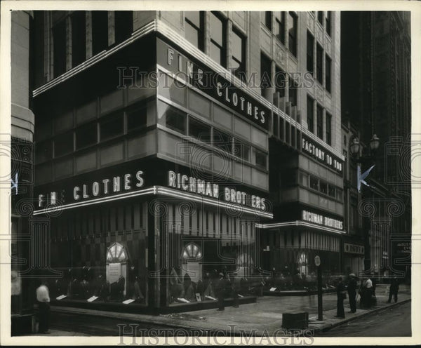 1933 Press Photo New Richman Store - cva73879 - Historic Images
