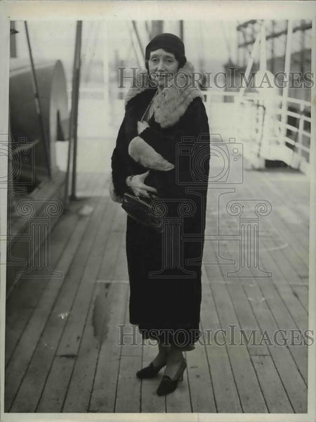 1931 Press Photo British actress Helen Haye arrives in NYC on SS Pres Harding - Historic Images