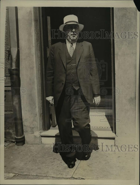 1934 Press Photo Captain William A Maher president Seafarers Council in NYC - Historic Images