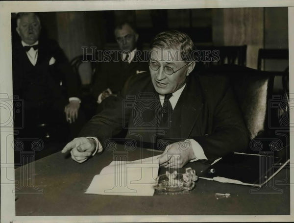 1935 Press Photo PH Iverson St Charles MN President of Farmers Educational Union - Historic Images