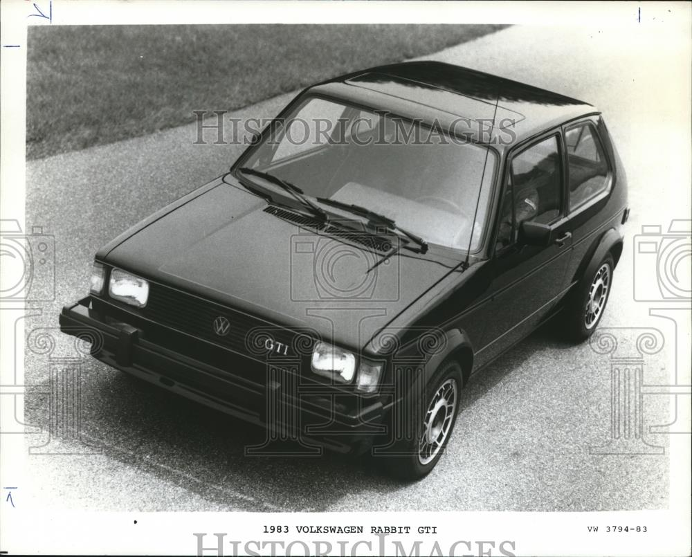 1983 Press Photo Volkswagen Rabbit Gti Orb14277 Historic Images