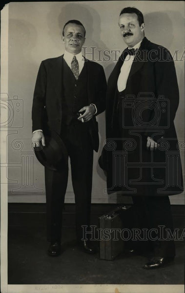 1928 Press Photo Col. Theodore Roosevelt, Brother Kerit S.S. Homeric - ora74142 - Historic Images