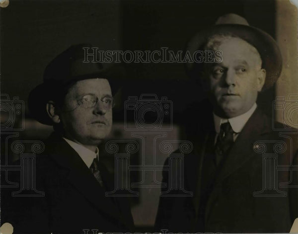 1923 Press Photo Deputy Marshal Edwin Tofer Arrested Bult - nee90368 - Historic Images