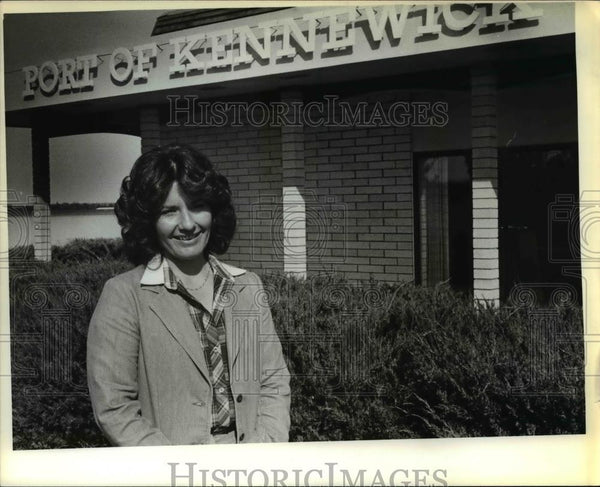 1979 Press Photo Sue Watkins Took Over Helm of Port of Kennewick - orb01715 - Historic Images