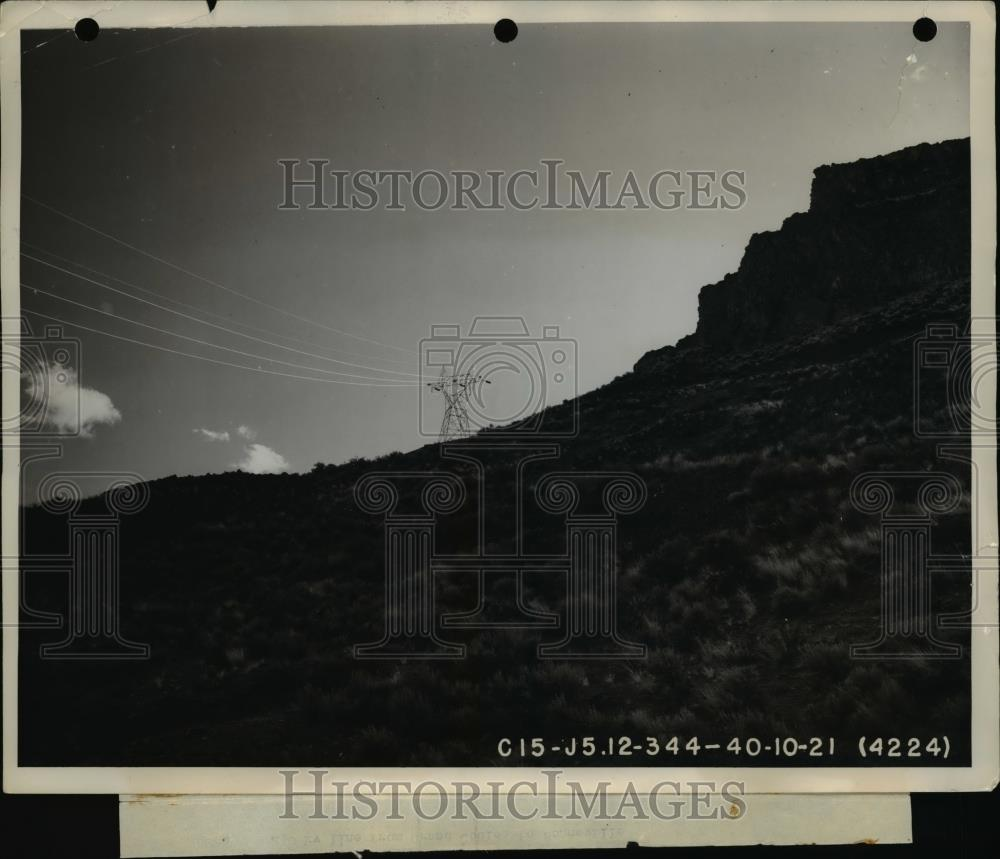 1947 Press Photo Bonnieville Power Ad Line From Grand Coulee to Bonneville - Historic Images