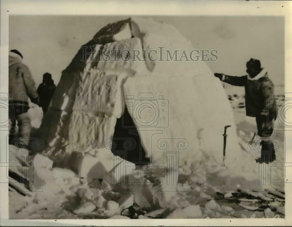 1936 Press Photo When 'Mounties' track trackless wastes in Ottawa - orb18554 - Historic Images