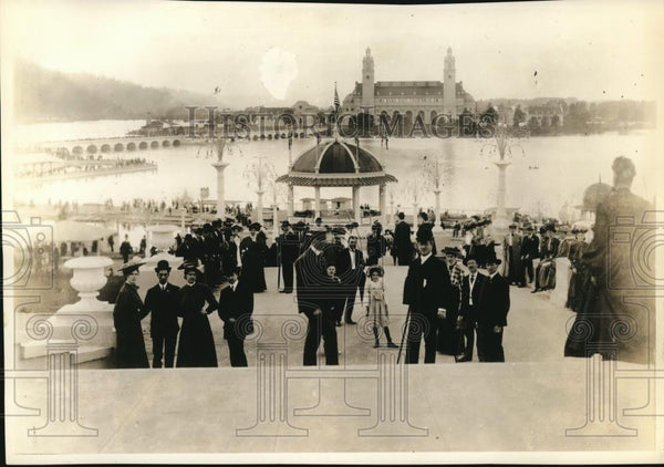 1934 Press Photo Grand Staircase Lewis & Clark Fair - orb28223 - Historic Images