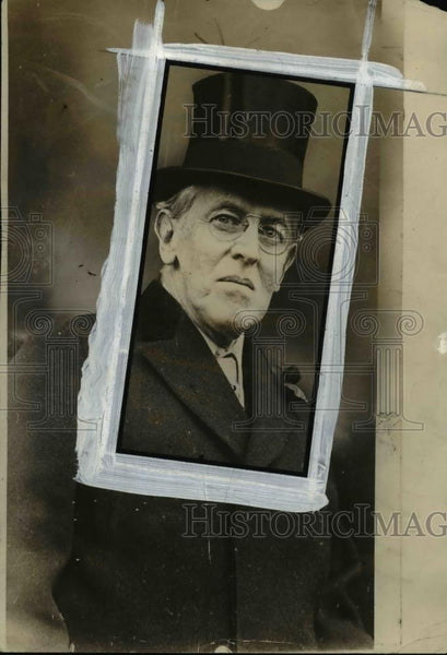 1936 Press Photo Woodrow Wilson protested his call war at the end of his career - Historic Images