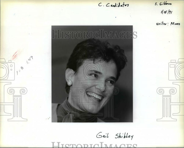 1991 Press Photo Gail Shibley was chosen as a new state legislator - ora89221 - Historic Images