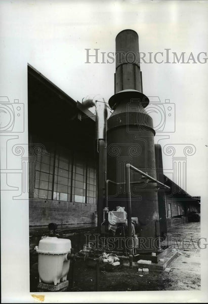 1970 Press Photo Fry Roofing Co. Columbia Willamette Air Pollution Authority
