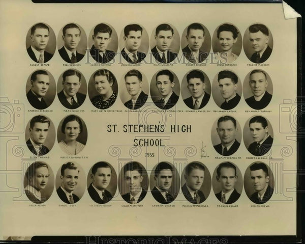 1935 Press Photo St Stephens High School - orb43540 - Historic Images