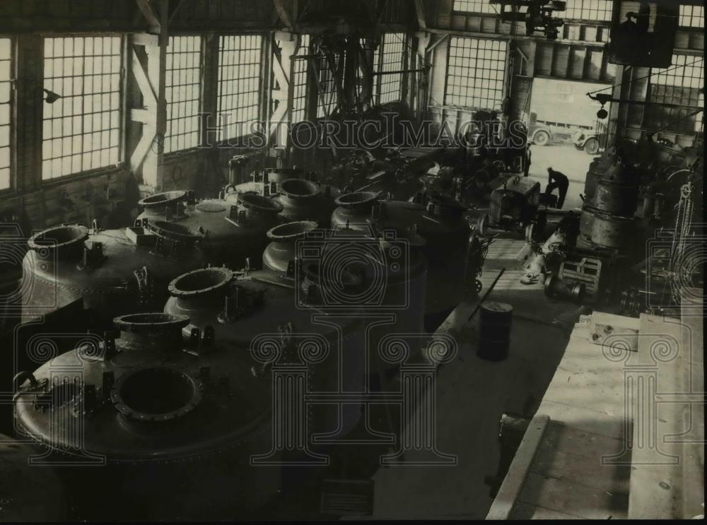 1934 Press Photo An interior view of the Commercial Iron Works - orb49316 - Historic Images