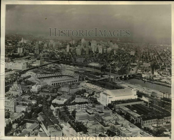 1936 Press Photo Air view-Philadelphia - orb45378 - Historic Images