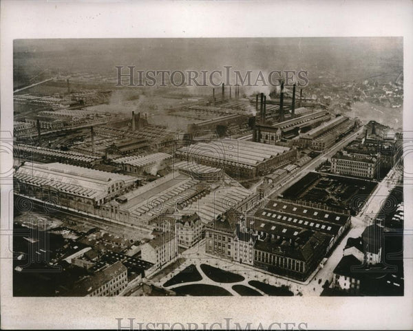 1937 Press Photo Skoda Munitions Works at Pleen, Europe largest Munition Factory - Historic Images
